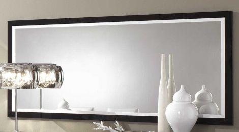 Spiegel Roma 180 cm - schwarz/weiß