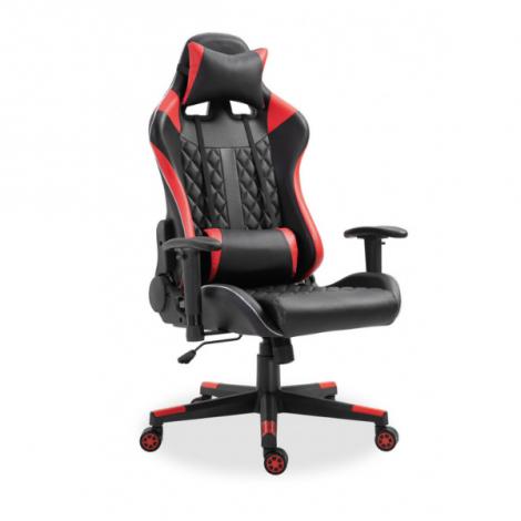 Gaming Stuhl Robin mit LED - rot/schwarz