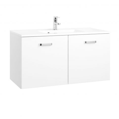 Waschbeckenschrank Bobbi 100cm 2 Türen - weiß