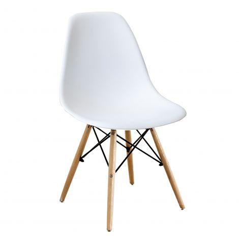 Satz von 4 Stühlen Paulette - weiß