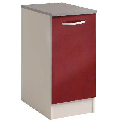 Basiseinheit Löffel 40 cm mit Tür - glänzend rot