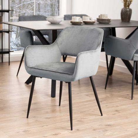 2er Set Stühle Dani - grau