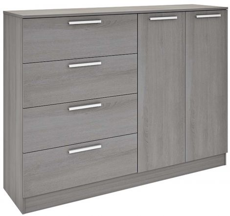 Chest 4 drawers 2 doors