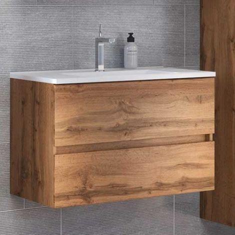 Waschtischunterschrank Brama 100cm 2 Schubladen - wotan eiche
