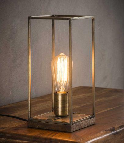 Tischlampe rechteckigen Stab - Antike bronze