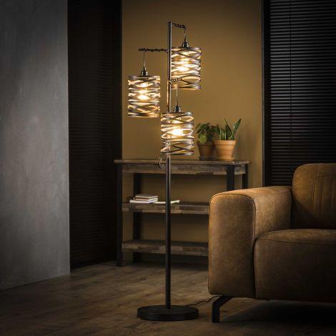 Stehlampe 3L Spindel - Slate grey