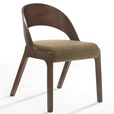 2er-Set Stühle Ulrike - Nussbaum/Braun