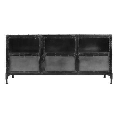 Anrichte Brooklyn 150cm Stahl/Glas natur