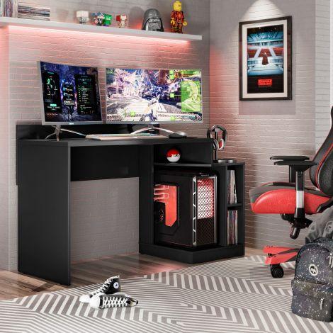 Gaming-Schreibtisch Joseph 136cm - schwarz