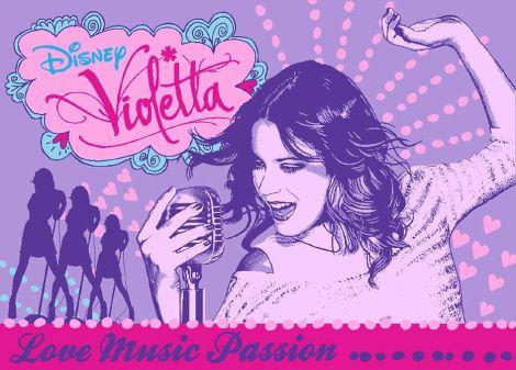 Teppich Violetta - Love Music