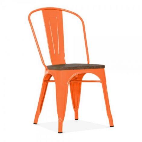 Set mit 4 Stühlen Victoria - orange