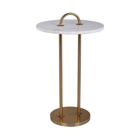Beistelltisch Dexterio 36cm - gold/weiß