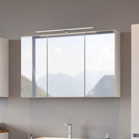 Spiegelschrank Pisca 100cm 3 Türen - weiß