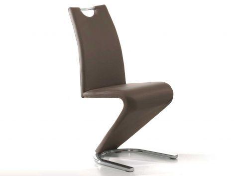 Set mit 2 Stühlen Lineo - braun