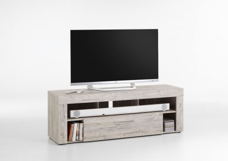 TV-Schrank Vidi 150 cm - Eiche grau