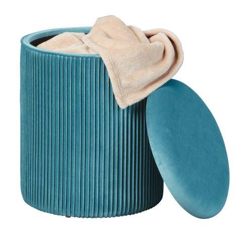 Fußhocker Sofiane 35 cm - blau