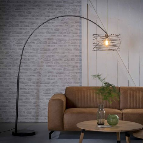 Bogenlampe Ø45 curl - Charcoal
