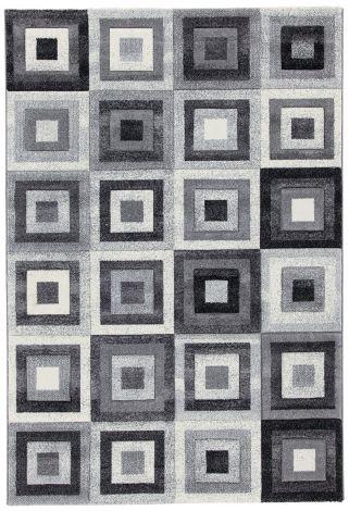 Teppich Gioia A Bw 200x200 - grau