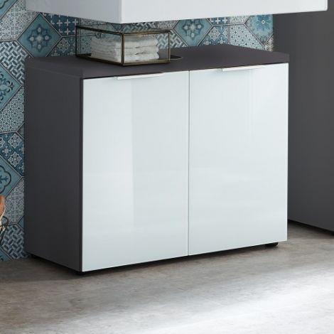 Waschbeckenschrank Sepp mit 2 Türen - graphitgrau