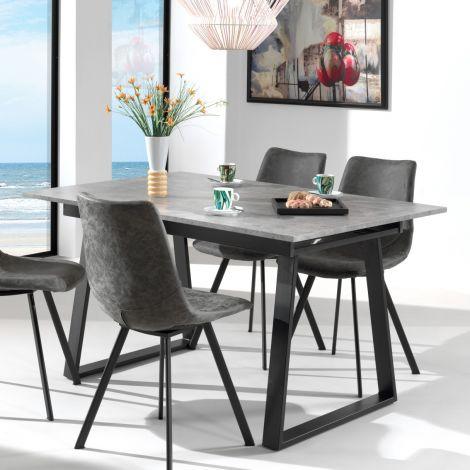 Ausziehbarer Tisch Austria 180x90 industriell - Beton