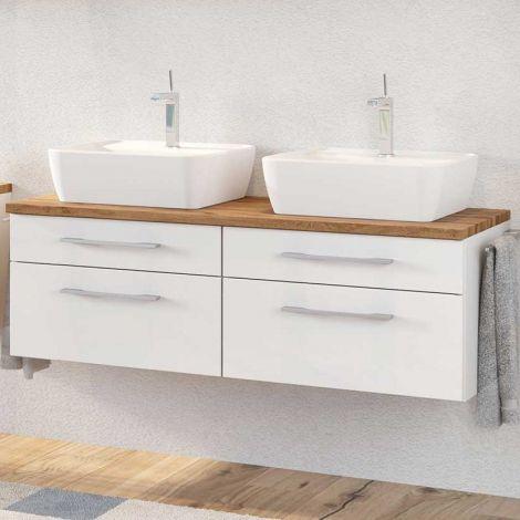 Waschbeckenschrank Dasa 120cm mit 4 Schubladen - weiß