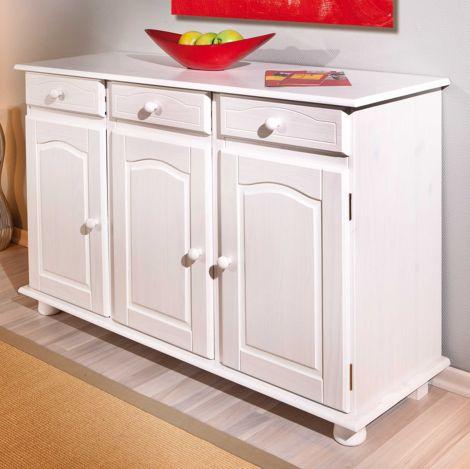Sideboard Abaco (3 Türen) - weiß