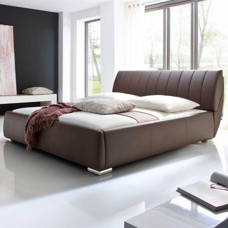 Bett mit Stauraum Davos 200x200 - braun
