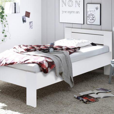 Einzelbett Sartre 90x200 - weiß