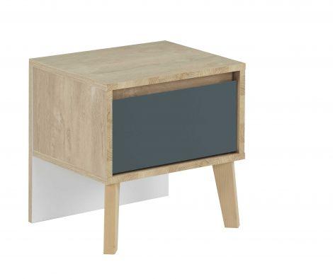 Nachttisch Lina 1 Schublade - blau