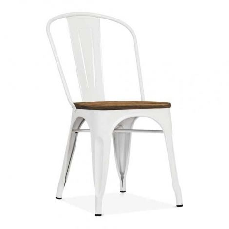Set mit 4 Stühlen Victoria - weiß