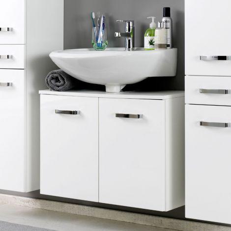 Waschbeckenschrank Bobbi 70cm 2 Türen - weiß