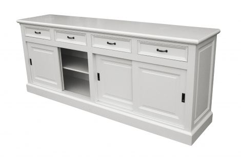 Sideboard Provence - 220 cm - weiß