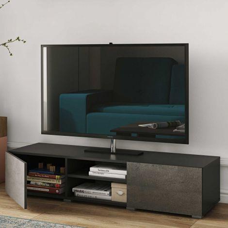 Podium TV-Möbel 140 cm - schwarz/Beton