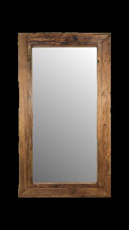 Wandspiegel Rustikal - 120x80 cm - Treibholz Teakholz