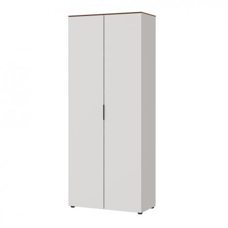 Anaelle 80cm Aufbewahrungsschrank mit 2 Türen - weiß/Walnuss