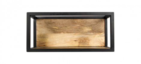 Wandkasten Nivelliere - 55x25 cm - Mangoholz / Eisen