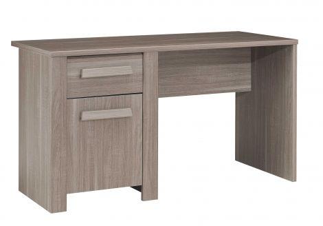 Schreibtisch Haron 136cm - Eiche grau