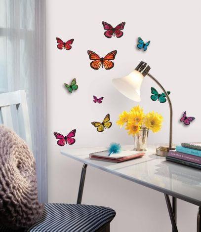 RoomMates Wandsticker - 3D Schmetterlinge