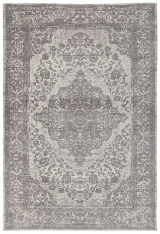 Teppich Argentella Medaillon 230x160 - Grau
