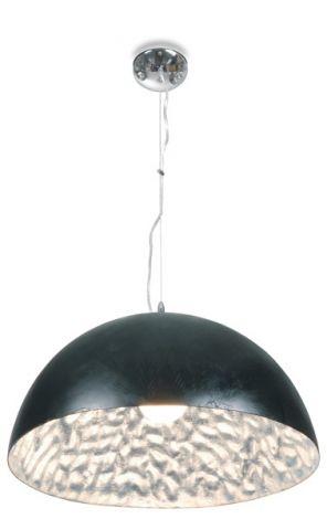 Hängelampe Moonface Ø38cm - schwarz / silber - 60w E27