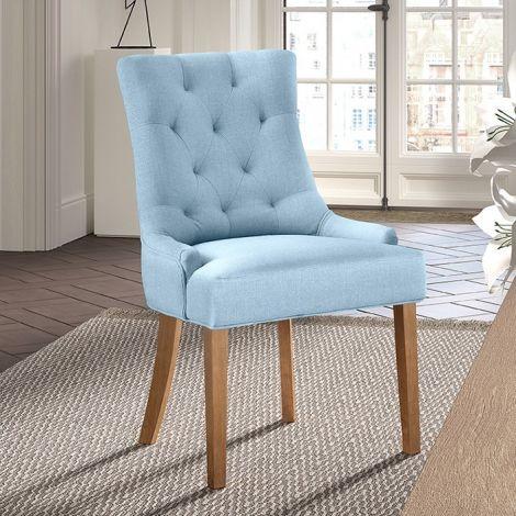 Satz von 2 Stühlen Anny - hellblau