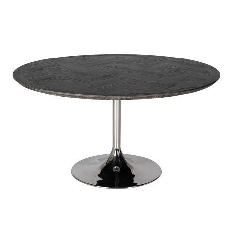 Esstisch Bony 140cm - schwarz/silber