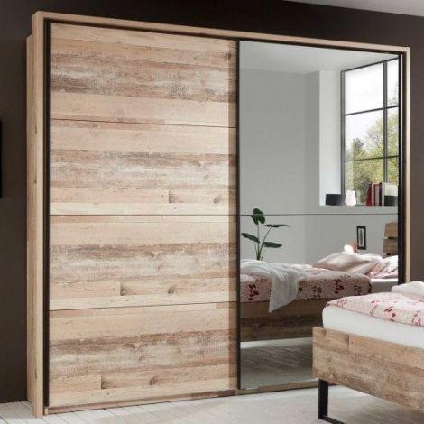Garderobe mit Spiegel Kemar 215cm - alter Stil