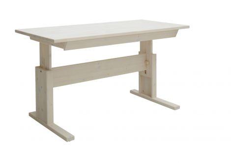 Schreibtisch mit Schublade 140 cm - white wash