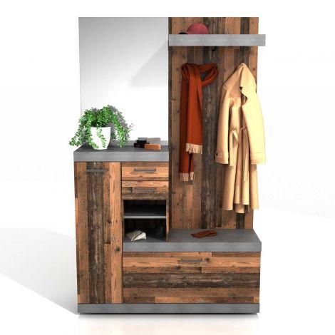 Cristal Hängeelement - verwittertes Holz
