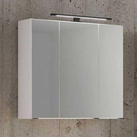 Spiegelschrank Dusan 80cm mit 3 Türen - weiß