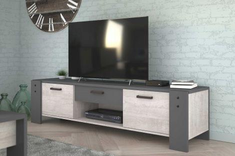 Tv-Möbel Travis 180cm Industrie - grau