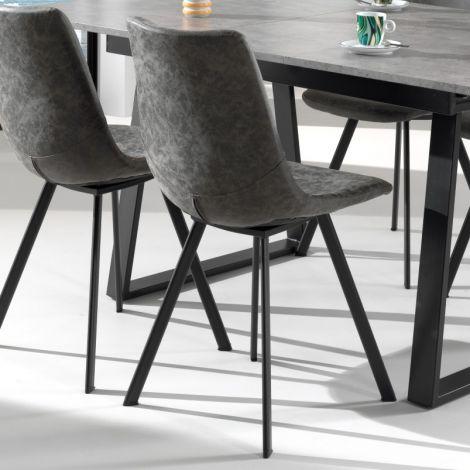 Satz von 2 Stühlen Norway - grau