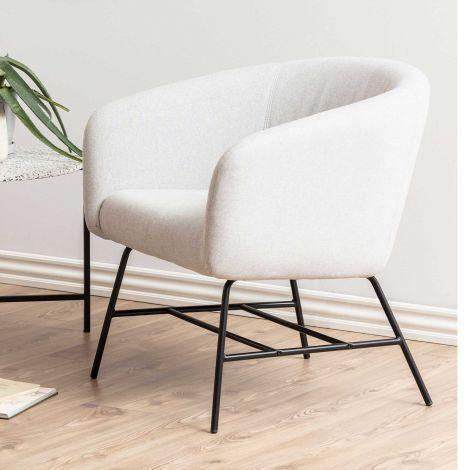 Ramsey resting chair - matt black, light grey