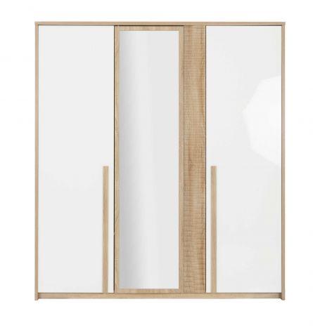 Kommode Alto 197cm mit 3 Türen und Spiegel - Sonoma Eiche